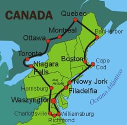Canada Cataratas Del Niagara Mapa.Mapas De Canada
